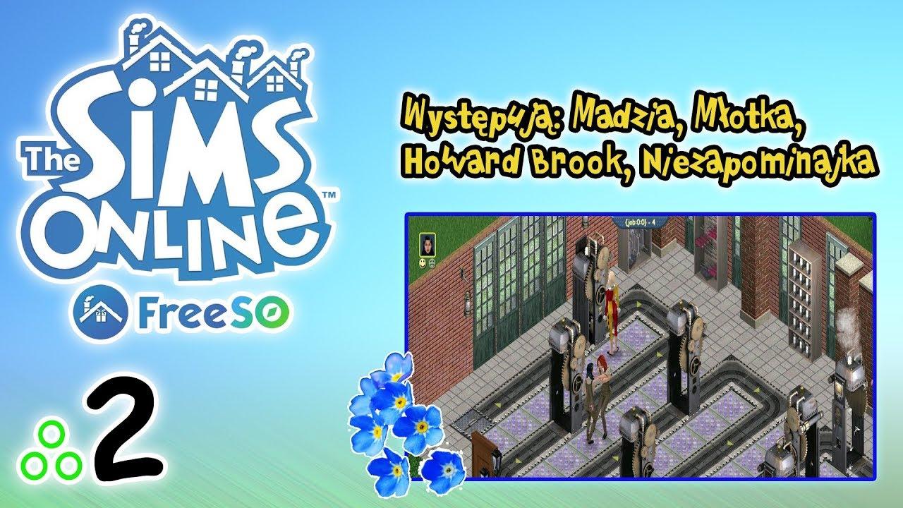 """Free Sims Online #2 – Madzia, Młotka, Howard i ja – """"Barbie w fabryce"""""""