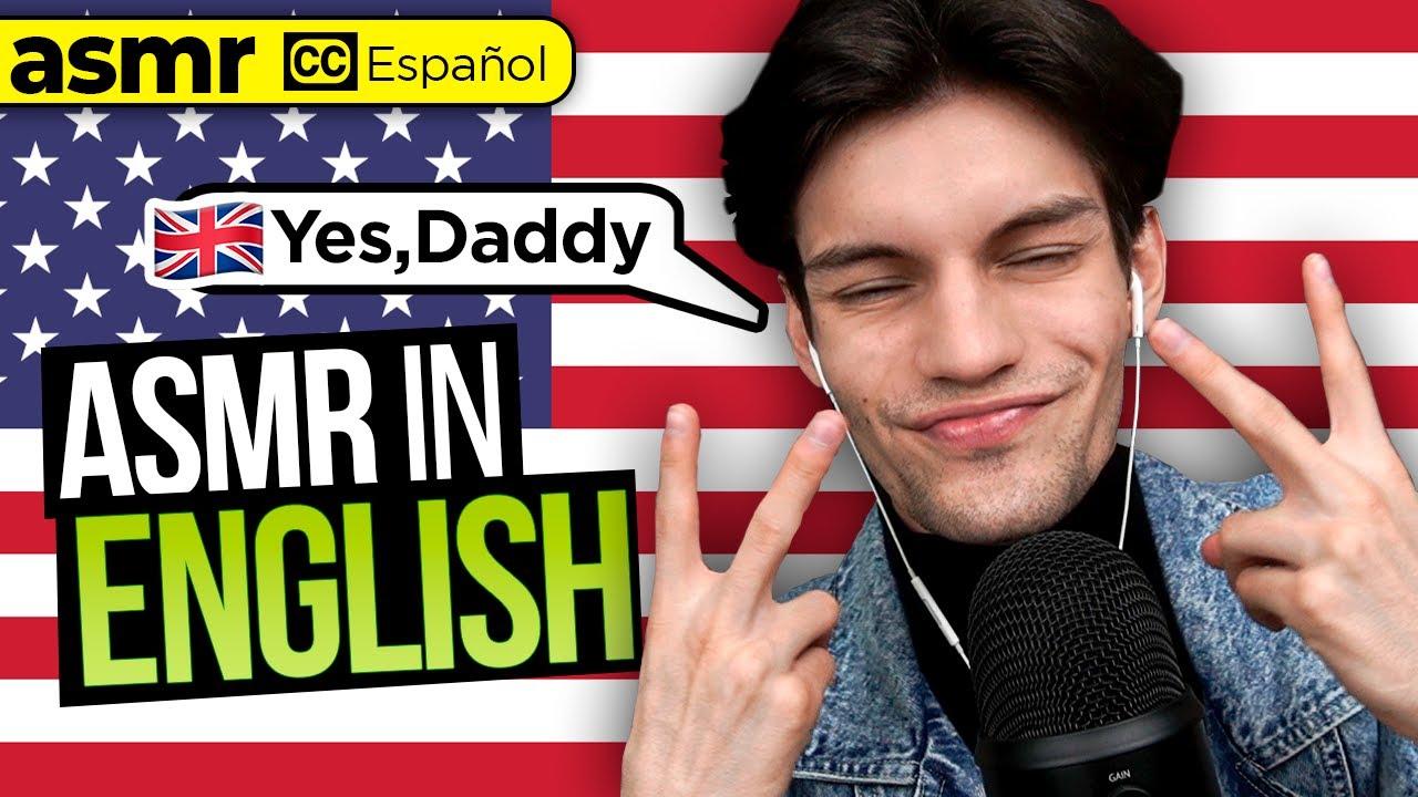 ASMR in ENGLISH mouth sounds, trigger words, visual (Sub Español) - mol asmr
