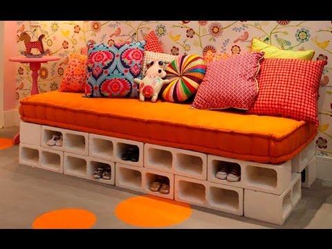 125 ideas de decoracion con bloques de cemento youtube - Muebles con ladrillos ...