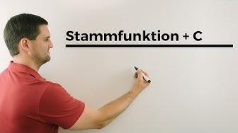 Stammfunktion + C, Bestand aus einer Änderungsrate ermitteln   Mathe by Daniel Jung