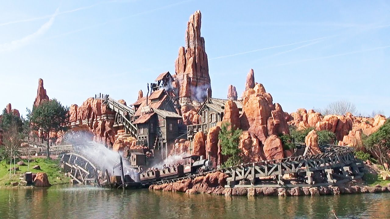 · the track is 1500 metres long with trains reaching a maximum speed of 50 kmph —. Big Thunder Mountain Railroad At Disneyland Paris Full Pov Ride Experience 2017 New Effects Youtube