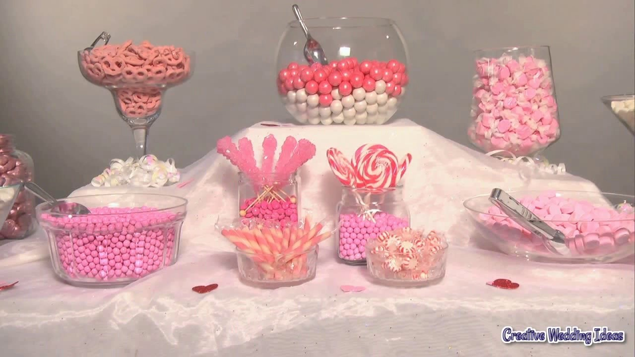 how to set up a candy buffet table youtube rh youtube com candy buffet table decorating ideas