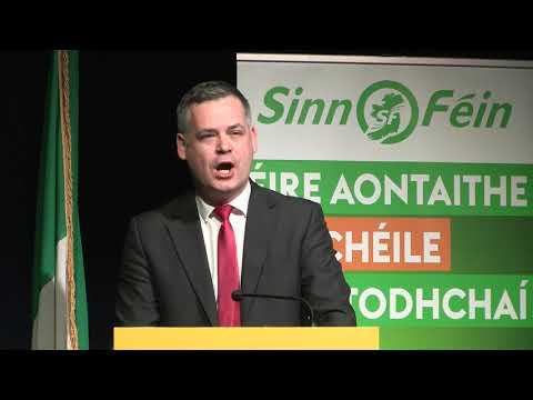 Pearse Doherty lambasts Fianna Fáil/Fine Gael and slams RTE bias