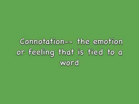 Connotation & Denotation