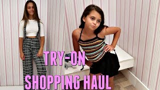 MALL SHOPPING FOREVER 21 TRY ON HAUL 2018! BRAND NEW SKYZONE TOUR! | EMMA AND ELLIE