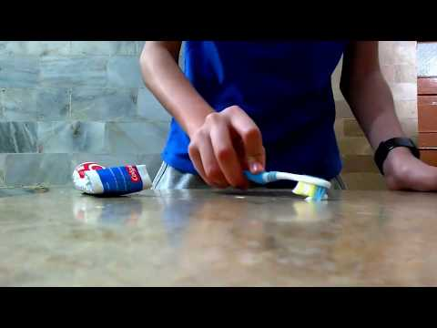 Toothpaste can remove pen ink