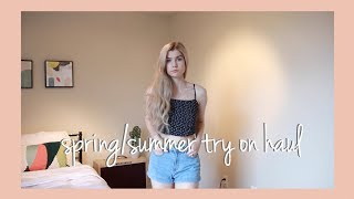 Spring/Summer Try-On Haul - Brandy Melville + Pacsun