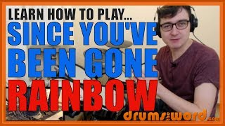 ★ Since You've Been Gone (Rainbow) ★ Drum Lesson PREVIEW | How To Play Song (Cozy Powell)