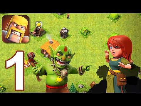Clash of Clans - Gameplay Walkthrough Part 1 - Tutorial (iOS, Android)