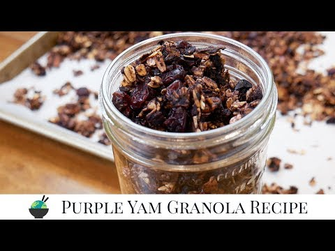 How To Make Ube Granola | Homemade Spiced Purple Yam Granola Recipe (Vegan!)