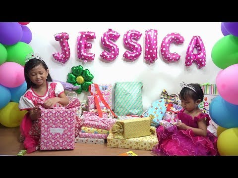 Wow...... Jessica Jenica Buka Kado Ulang Tahun 💖 Apa aja ya isinya.....??? 💖 OPEN BIRTHDAY PRESENTS