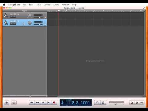 How to: Delete Tracks in GarageBand