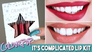 ColourPop It's Complicated Ultra Satin Lip Kit   Lip Swatches