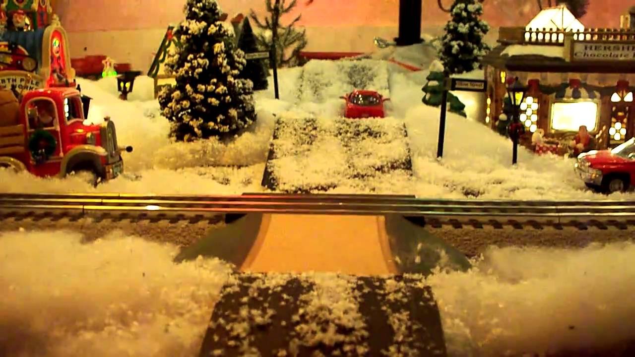 Christmas Village Under Christmas Tree With Lionel Christmas Train  - Christmas Trains For Under The Tree