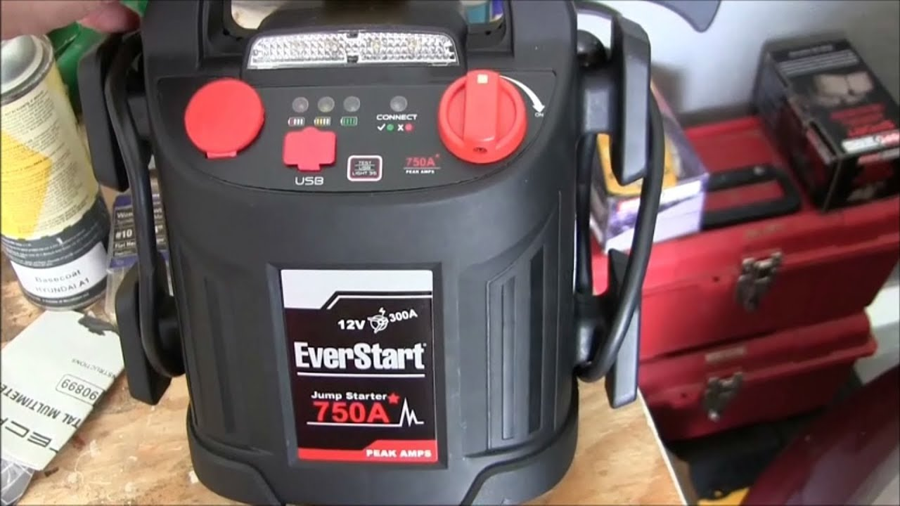 EverStart Jump Starter/Air Compressor- Review plus multimeter use