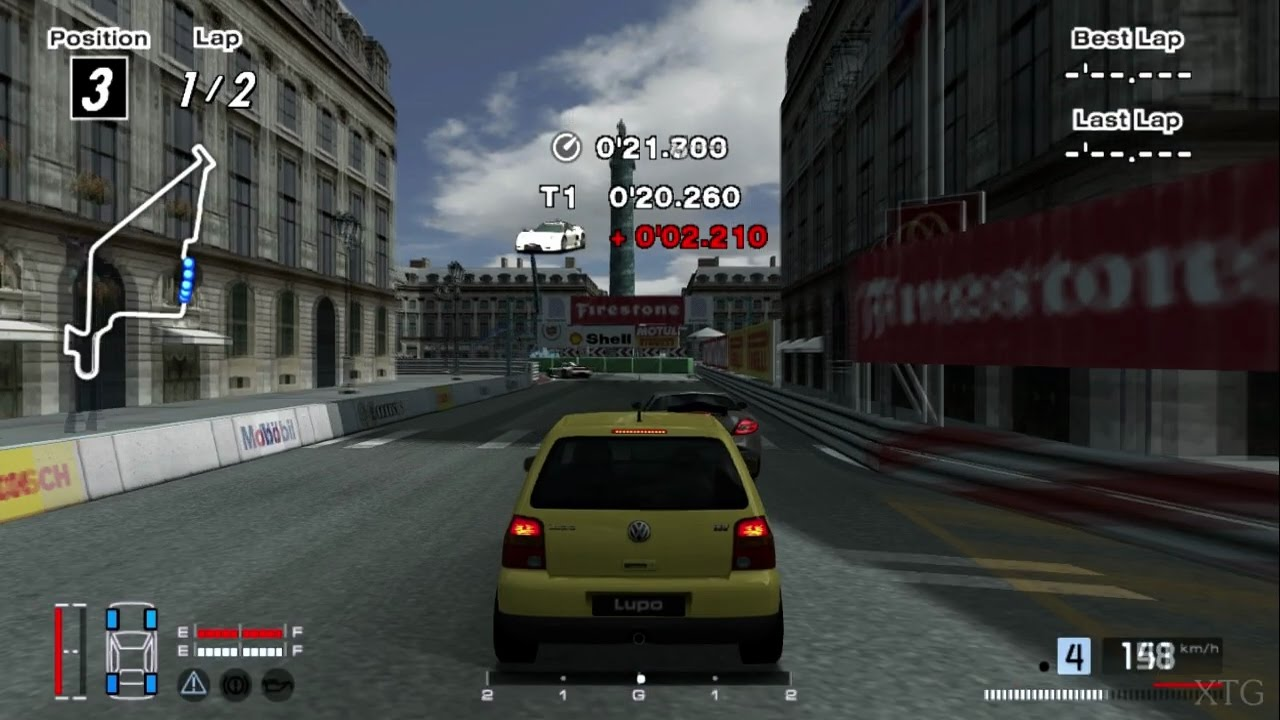 Gran turismo 4 volkswagen lupo 1 4 02 hybrid cockpit view ps2 gameplay hd
