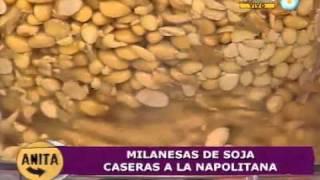 Saludables milanesas de soja a la napolitana (Parte 1)