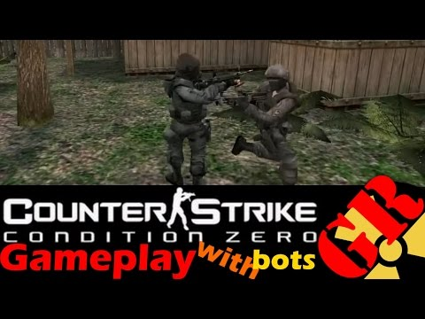 Counter-Strike: Condition Zero gameplay with Hard bots - Downed - Counter-Terrorist