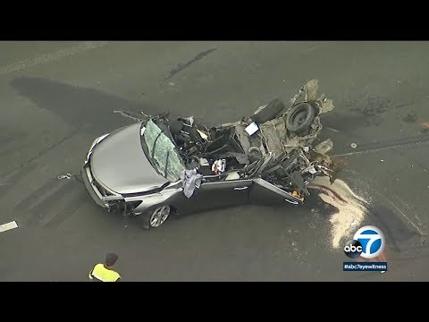 DASHCAM: 1 Killed, 3 Hurt In Chain-reaction Crash On 15 Freeway I ABC7