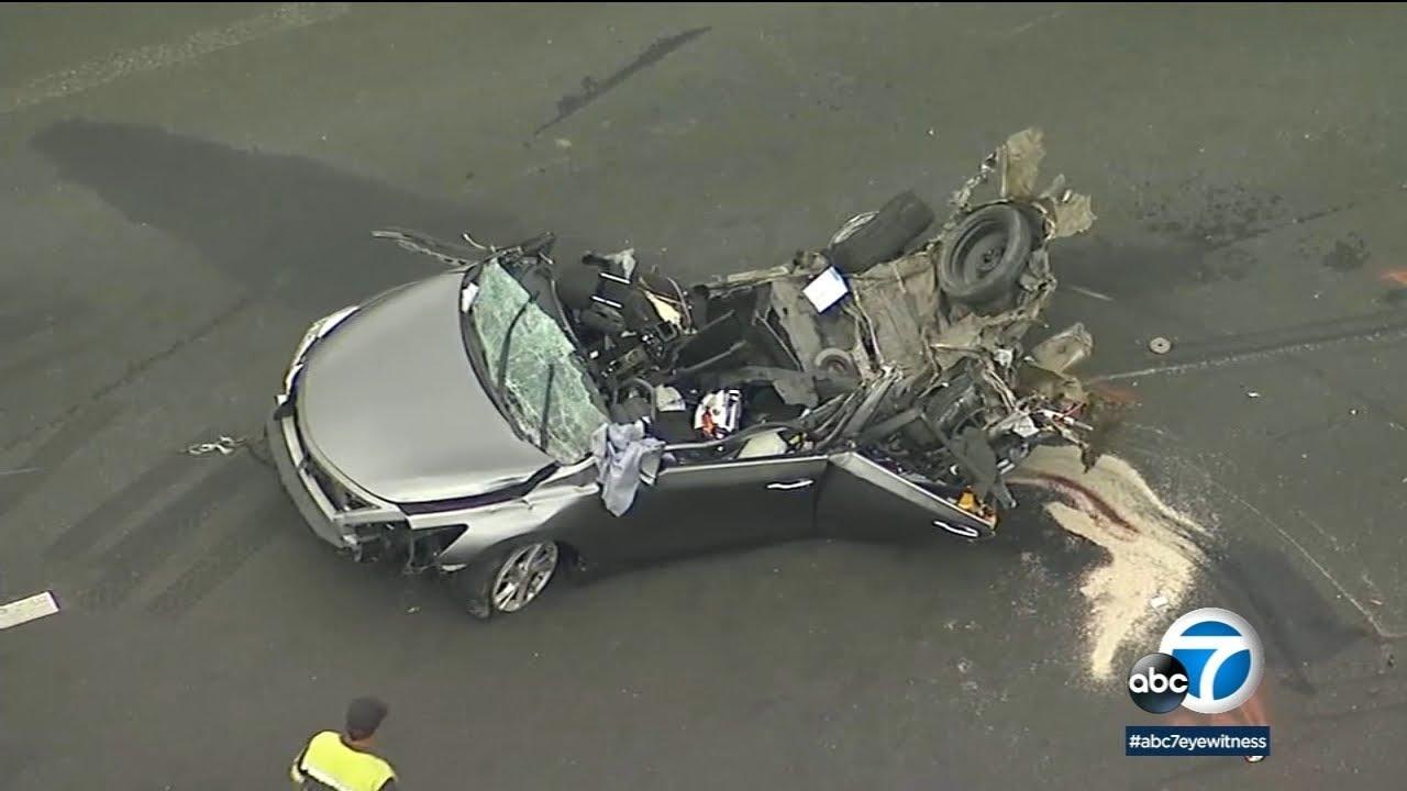 Chain Reaction Crash On 15 Freeway