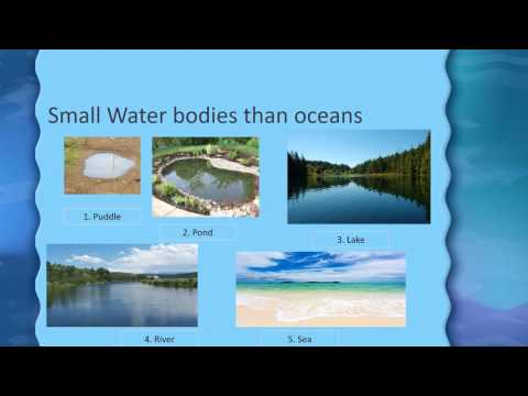 Water bodies and Oceans for Kids