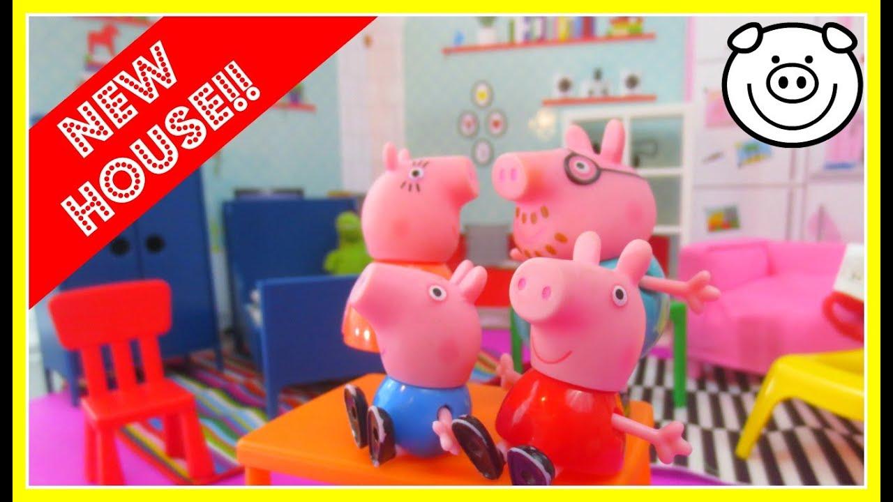 Peppa Pig Bedroom Furniture Peppa Pig Familys New Ikea House Spexa Dollhouse With Huset