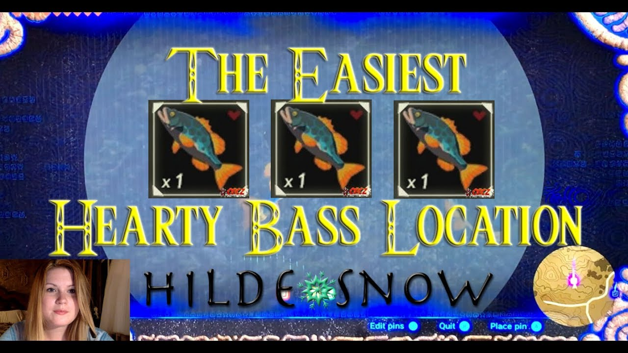 The Hearty Bass Location You Have To Know Zelda Botw Hilde Snow Youtube