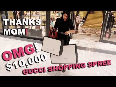 GUCCI GAVE ME A FREE GIFT AFTER $10,000 SHOPPING SPREE IN THE WORLDS BIGGEST MALL! (The Dubai Mall)