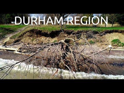 Durham Region Aerial | Pickering Ajax Border 4K