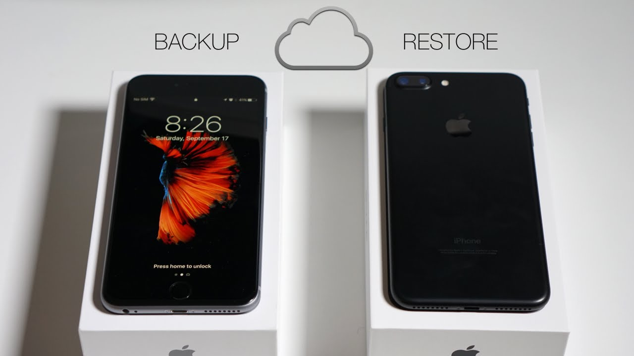 How to Backup Your Old iPhone and Restore to iPhone 7  YouTube