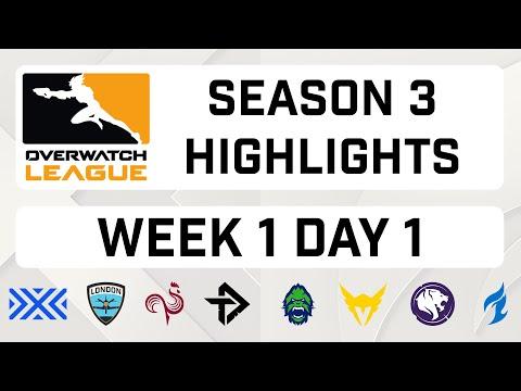 Overwatch League Season 3 Week 1 Highlights | Day One