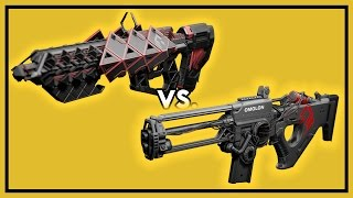 Destiny Rise of Iron: Outbreak Prime vs. Chaos Dogma - Raid Weapon Damage Comparison