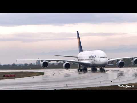 First EVER Airbus A380 in Sofia, Bulgaria escorted by MIG-29`s