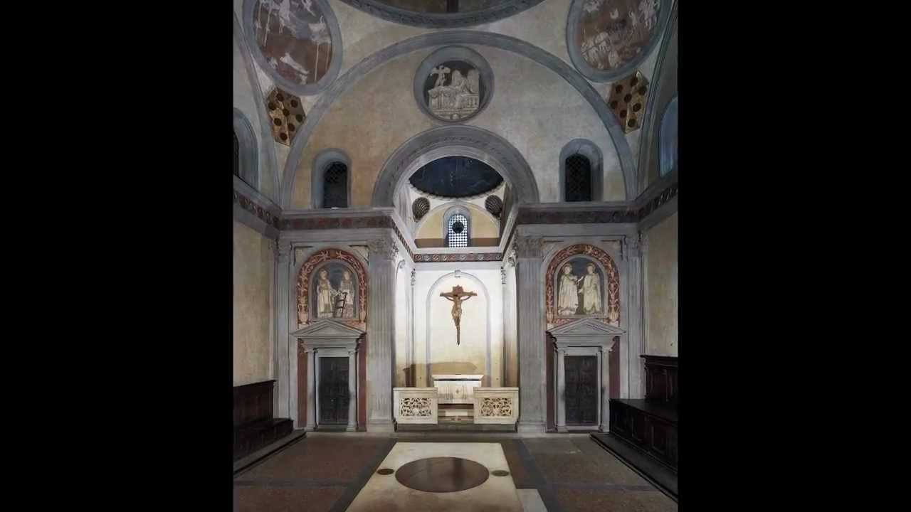 Brunelleschi, Old Sacristy, San Lorenzo, Florence, begun c ...