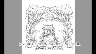 Mystical Journey Coloring Book Preview