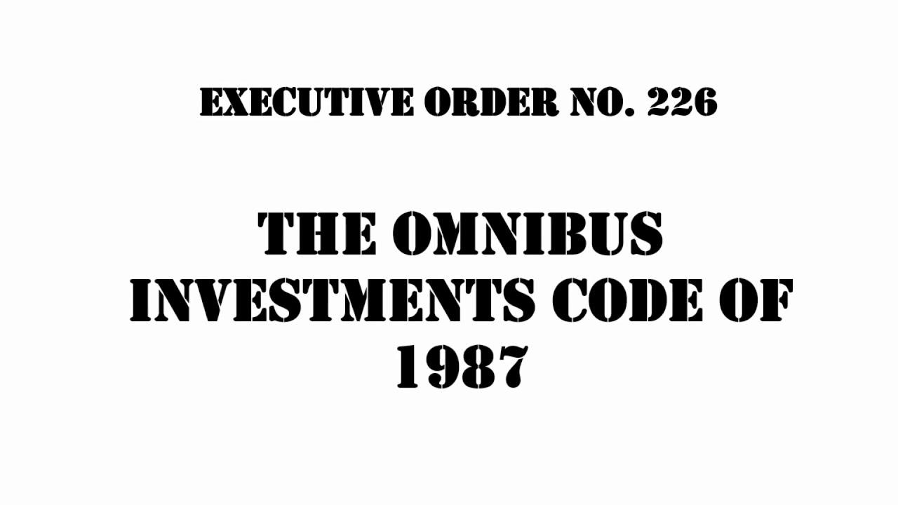 Executive order 226 omnibus investment code investment consultant vs cfp