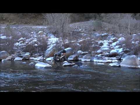 Funniest video Fly Fishing Merced River, Yosemite, CA Jan 2012 Sony hx100v HD