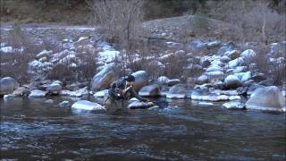 Funniest video Fly Fishing Merced River, Yosemite, CA Jan 2012 Sony hx100v HD(http://www.yspecial.com This video is reminiscent to the movie