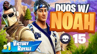MY NEW DUO KILL RECORD with NoahsNoah (Fortnite Battle Royale)