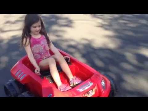 AntMan star Abby Ryder Fortson rides the Step2 Spin N Go Xtreme Cruiser