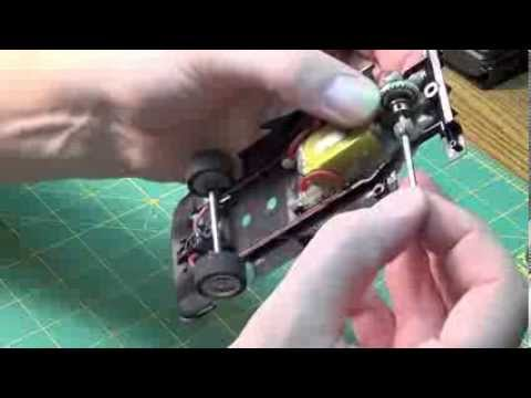 Slot Car – Tunning rear bushing with homemade tool, SuperGlue and Toothpaste!