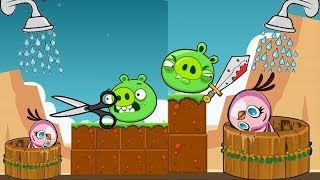 Angry Birds Take A Shower - THE PIGGIES GOT MAD ALL WHILE STELLA STEALING WATER WELLS!