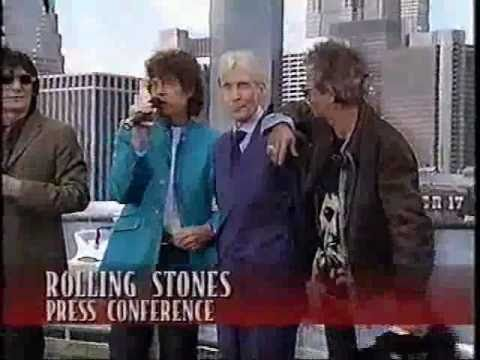 Bridges to Babylon Tour Press Conference Rolling Stones