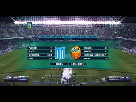 Mirá en vivo Racing vs Crucero del Norte