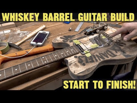 EPIC GUITAR BUILD FROM A WHISKEY BARREL!!