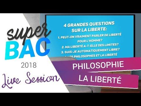 Bac 2018 - Révisions de Philosophie : La liberté