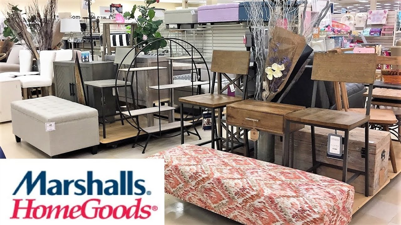 Chairs At Homegoods.Marshalls Home Goods Furniture Chairs Tables Ottomans Shop With Me Shopping Store Walk Through 4k