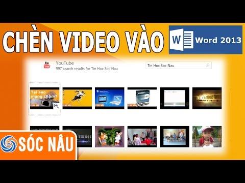 Chèn video từ Youtube vào Word 2013