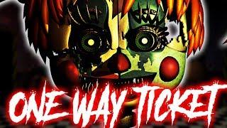 """""""One Way Ticket"""" - FNaF Song by NateWantsToBattle [FNAF LYRIC VIDEO]"""