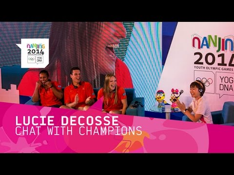 Lucie Decosse joins the Chat with Champions - Learn and Share | Nanjing 2014 Youth Olympic Games